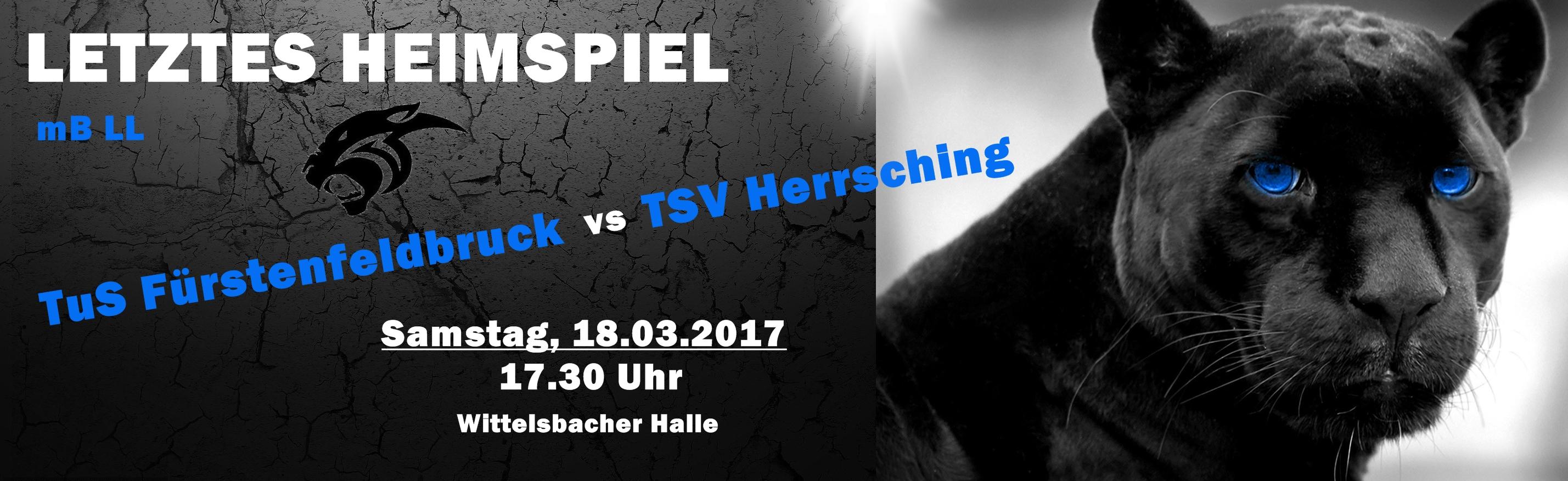 Banner Spiel Herrsching - 18.03.2017
